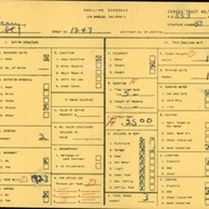 WPA household census for 1247 E 43RD STREET, Los Angeles County