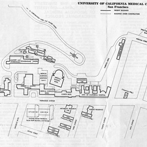 Calisphere: Campus map of University of California Medical ... on mountain state university campus map, morehead university campus map, armstrong university campus map, cal state fullerton university campus map, campolindo campus map, academy of art university campus map, ole miss university campus map, lmu university campus map, bridgeport university campus map, eastern carolina university campus map, north dakota university campus map, smu university campus map, east tennessee state university campus map, cal poly pomona university campus map, kentucky university campus map, virginia university campus map, humboldt university campus map, southern new hampshire university campus map, xiamen university campus map, puget sound university campus map,
