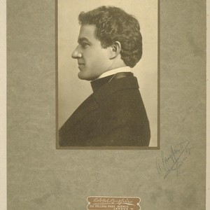 [Portrait of Herman George Scheffauer.] [Photograph by Adolph Langfier. 1907.]