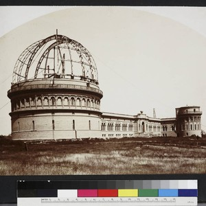 Yerkes Observatory under construction, looking northeast