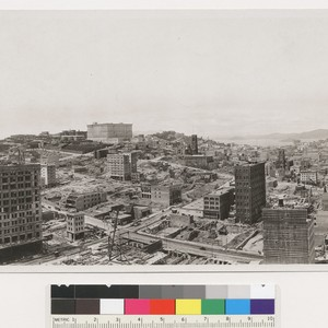 S.F. 1 year after fire. Panorama north from. Chronicle, Kearny & Telegraph ...