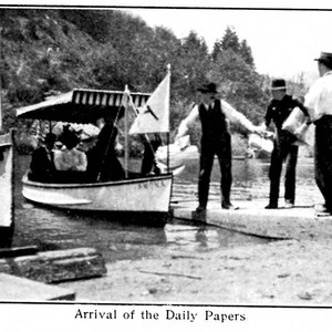 Arrival of the Daily Papers, from postcard booklet of Monte Rio on ...