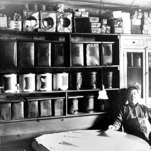 Interior view of Pow Hing Co., general merchandise store in Riverside