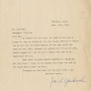 Letter from James S. Yoshinobu to Mr. [George] H. Hand, Chief Engineer, ...