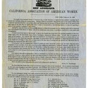 Ship Angelique: California Association of American Women, New York, February 20, 1849