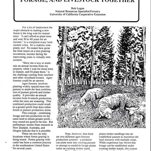 Agroforestry: Growing Trees, Forage, and Livestock Together