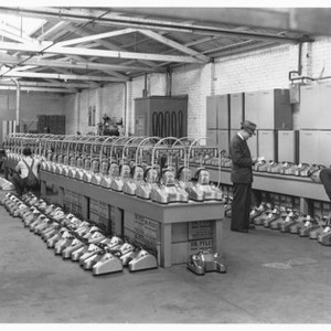 Factories - Stockton: Interior of factory, Dr. Pyles foot oscillations