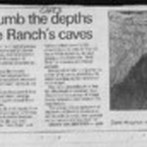 Spelunkers plumb the depths of Grey Whale Ranch's caves