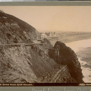 Beach Drive from Cliff House [San Francisco]. B 1277. [Photograph by Isaiah ...