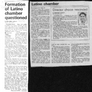 Formation of Latino chamber questioned