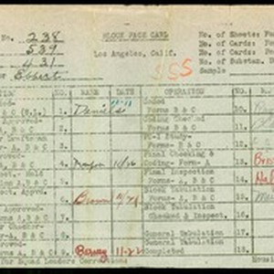 WPA block face card for household census (block 431) in Los Angeles ...