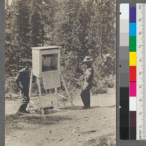 A weather station on the way to the Mt. Hough Lookout. About ...