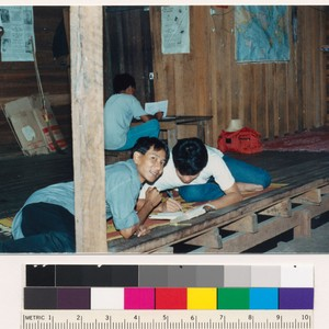 Burmese camp, Thailand, students