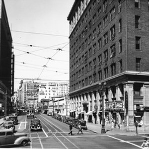 In Downtown Los Angeles facing north on South Broadway between West Eleventh ...