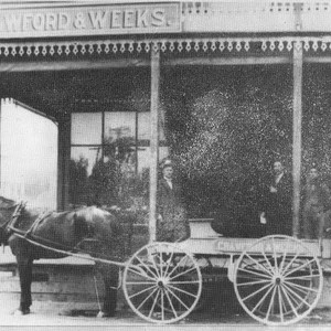 Crawford & Weeks store front on North Main Street
