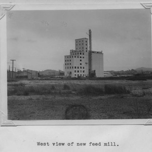 West view of the Poultry Producers of Central California feed mill, Petaluma, ...