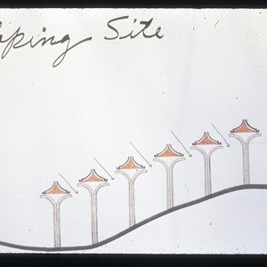 Sketch of sloping site for Fine Arts Village