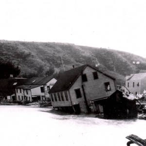 The Flagstaff Inn and the Bolinas Tavern, tipped into the Bolinas Lagoon ...