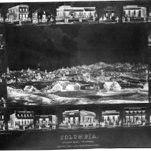 Negative print of lithograph of Columbia by Towle & Leavitt