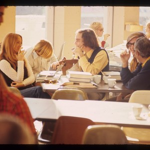 Students in cafeteria, ca. 1970