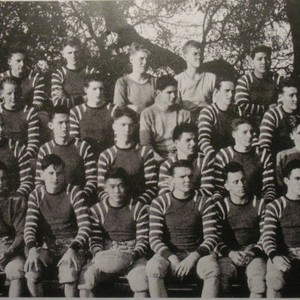Analy Union High School football team, circa 1940s from yearbook, Azalea