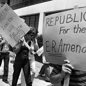 ERA demonstrates at Reagan's headquarters