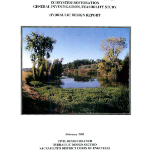 Middle Creek, Lake County, California, Ecosystem Restoration, General Investigation, Feasibility Study, Hydraulic ...