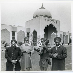 Photo of Men in front of Yuba City Sikh Temple