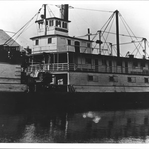 Cargo being loaded onto the paddle steamer Gold, Petaluma, California, 1905