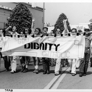 Dignity contingent in the Los Angeles pride parade