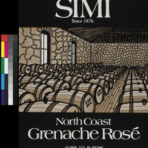 Simi North Coast grenache ros : alcohol 12% by volume