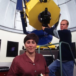 Students at the Keck Observatory in Hawaii.