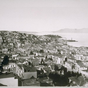 Telegraph Hill, looking out the Golden Gate. 1882