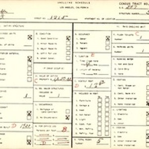 WPA household census for 1315 E 110 ST, Los Angeles County