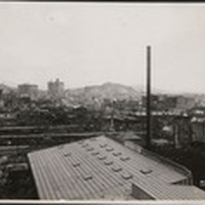 [View to northeast from near Rincon Hill toward Telegraph Hill (center). Russian ...
