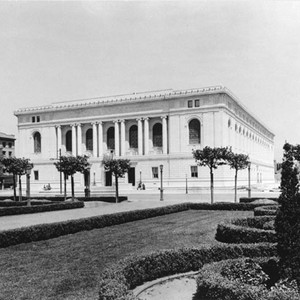 [Exterior view of Main Library in 1910's]