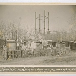 Hooverville, Sacramento, California. Residents of Hooverville have found there are many things ...