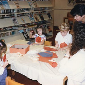 Children at Halloween Storytime in the Library
