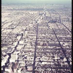 Aerial photograph of Los Angeles, ca. 1973