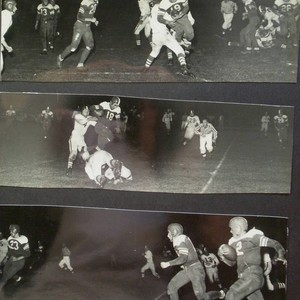 Analy High School football, fall, 1951--Analy vs Petaluma in a night game