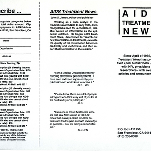 AIDS Treatment News brochure [2]