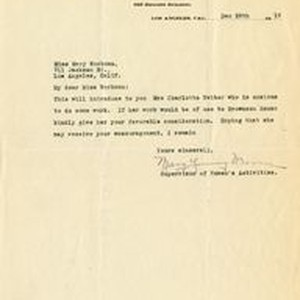 Mary Young Moore letter to Mary J. Workman, 1919 December 29