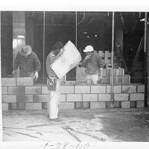 View of the library construction on January 28, 1966, Santa Rosa