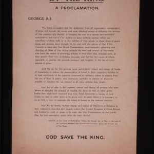 Buckingham Palace. By the King. A proclamation. George R. I. We, being ...