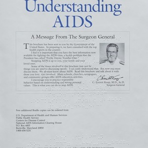 """Understanding AIDS: A Message from the Surgeon General"" – BRAILLE edition"