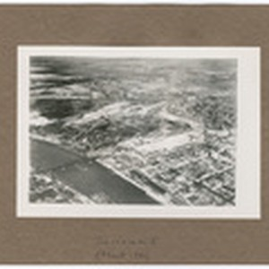 [Aerial view of Sacramento showing Southern Pacific Shops, Southern Pacific Depot, I ...