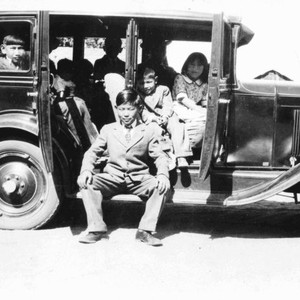 Shimasaki family with new 1930 Chevrolet