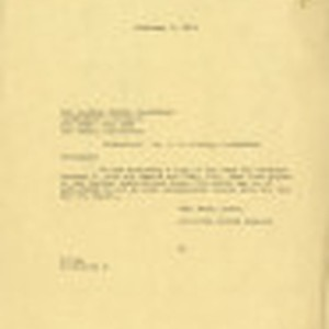 Letter from [John Victor Carson], The Dominguez Estate Company to Los Angeles ...