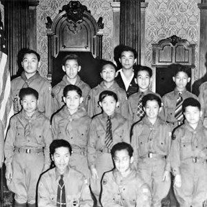 Chinese American Boy Scout Troop 108m at a meeting in the Westgate ...