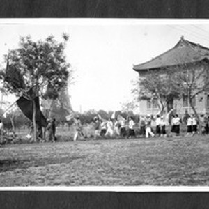Students parade related to Jinan Incident, Jinan, Shandong, China, 1928